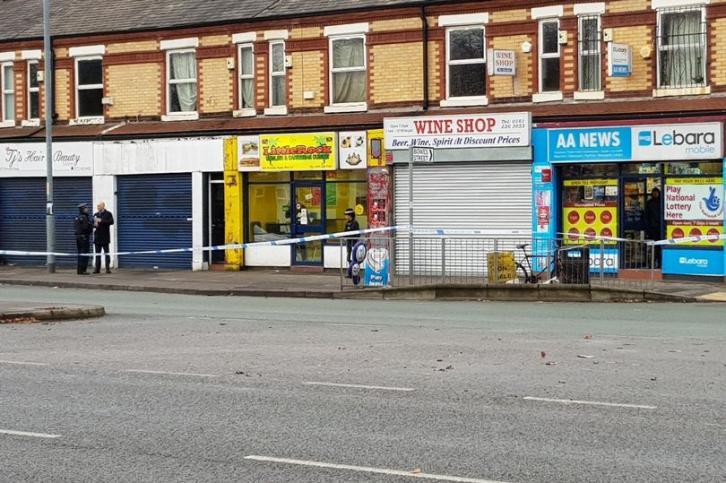 Манчестерское кафе подверглось атаке грабителей с обрезом, битой и мачете