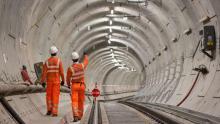работы на линии Crossrail