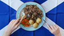хаггис - блюдо из бараньих потрохов
