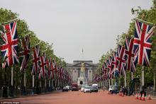 Лондон украсили ко Дню рождения королевы фото:dailymail.co.uk