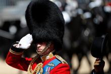 Принц Уильям замечен на репетиции парада в честь дня рождения монарха