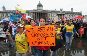 Акция протеста трудовых мигрантов