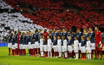 товарищеский матч Англия-Франция