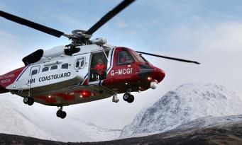 вертолет шотландской службы спасения