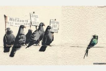 граффити Бэнкси в Клактон-он-Си