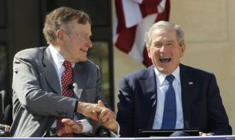Экс-президент США Джордж Буш-младший написал книгу об отце Джордже Буше-старшем