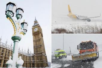 Снегопады в Англии