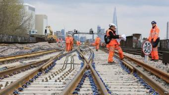 Работы на железнодорожных путях