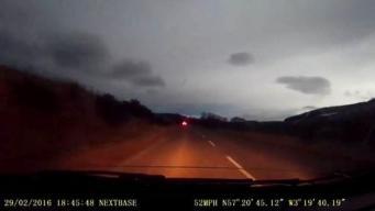 вспышка в ночном небе