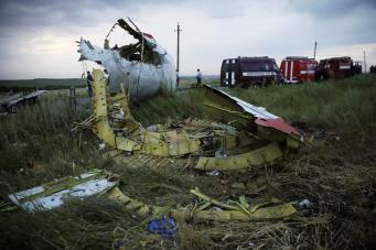 Самолет Малазийских Авиалиний, рухнувший в Украине