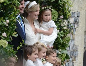 Джордж и Шарлотта на свадьбе