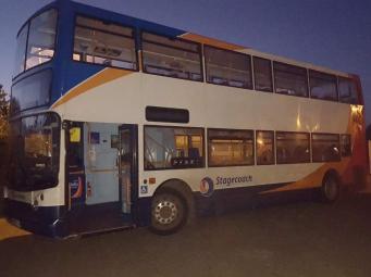 угнанный автобус