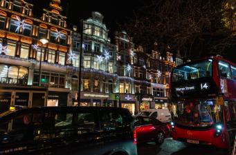 автобус в центре Лондона