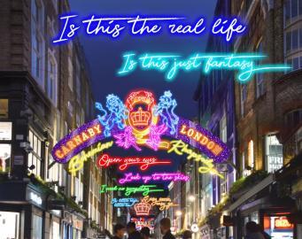 иллюминация на Карнаби-стрит
