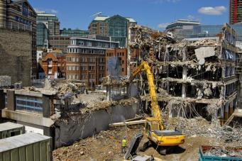 Стройплощадка в центральном районе Лондона