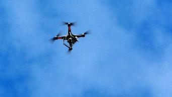 дрон в небе