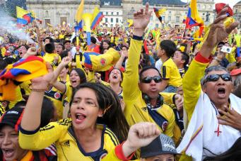 Футбольные фанаты Колумбии