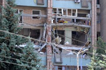 Украинская армия обстреляла Марьинку