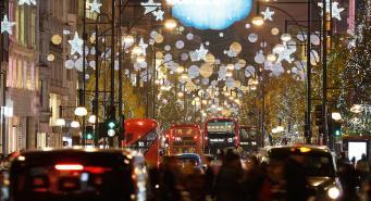 иллюминация на Оксфорд-стрит