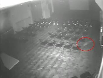 Привидение на записи камеры наблюдения