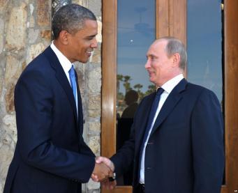 Путин и Обама во Франции