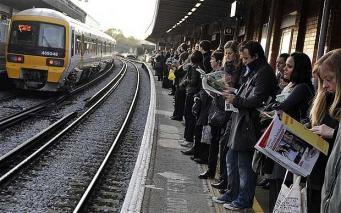 Станция пригородных поездов в Лондоне