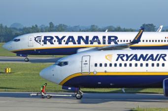Самолеты ирландской авиакомпании Ryanair