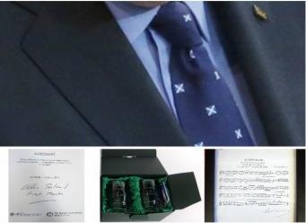 Подарки первому министру Шотландии