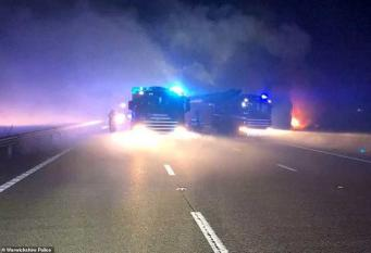 пожар на трассе М40