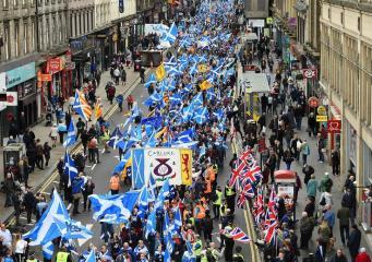 марш за независимость в Шотландии