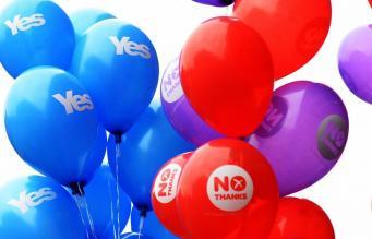Агитация перед референдумом о независимости Шотландии