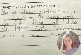Школьница из Шотландии прославилась, обвинив свою школу в военных преступлениях
