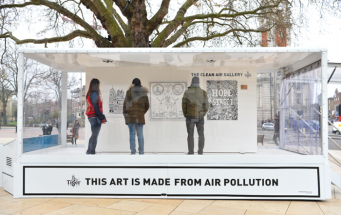 Картины из загрязненного воздуха