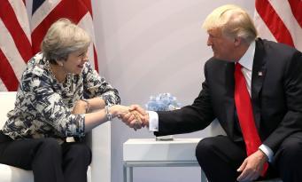 Трамп заявил о готовности подписать торговый договор с Великобританией фото:theguardian