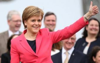 Никола Стерджен на конференции Шотландской национальной партии