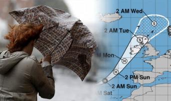 MetOffice повысил уровень штормового предупреждения по урагану Офелия фото:express