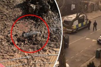 На северо-западе Лондона около школы была найдена бомба времен Второй мировой войны