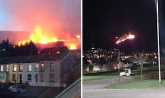 Уэльс в огне