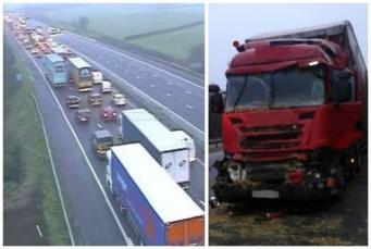 Крупные ДТП парализовали движение по шоссе М5 недалеко от Бристоля