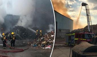 Пожар в восточном Лондоне