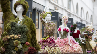 В Ковент-Гардене демонстрируют невероятные наряды из цветов