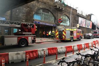Возгорание на самой оживленной станции Лондона
