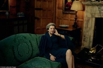 Тереза Мэй появилась на страницах американского модного журнала Vogue фото:dailymail.co.uk