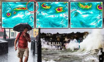 Супершторм достигнет берегов Великобритании в воскресенье вечером