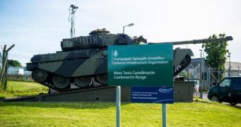 Во время учений на полигоне в Уэльсе произошел инцидент с танком