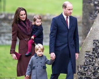 Супруги Кембриджские с детьми посетили рождественскую службу в Баклбери фото:dailymail.co.uk