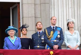 Ее Величество приняла парад авиации в день столетнего юбилея RAF