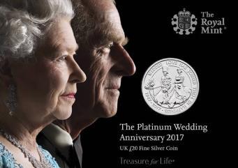 Платиновый юбилей бракосочетания королевы Елизаветы II отметят памятными монетами фото:royalmint