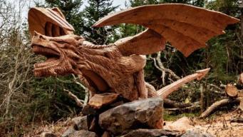 Полиция Северного Уэльса просит водителей не отвлекаться на дракона