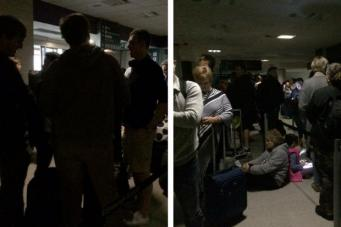 Аэропорт Эдинбурга погрузился во тьму фото:twitter